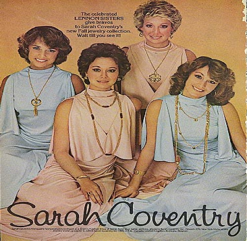 Image for The Lennon Sisters for Sarah Coventry fine jewelry ad 1975
