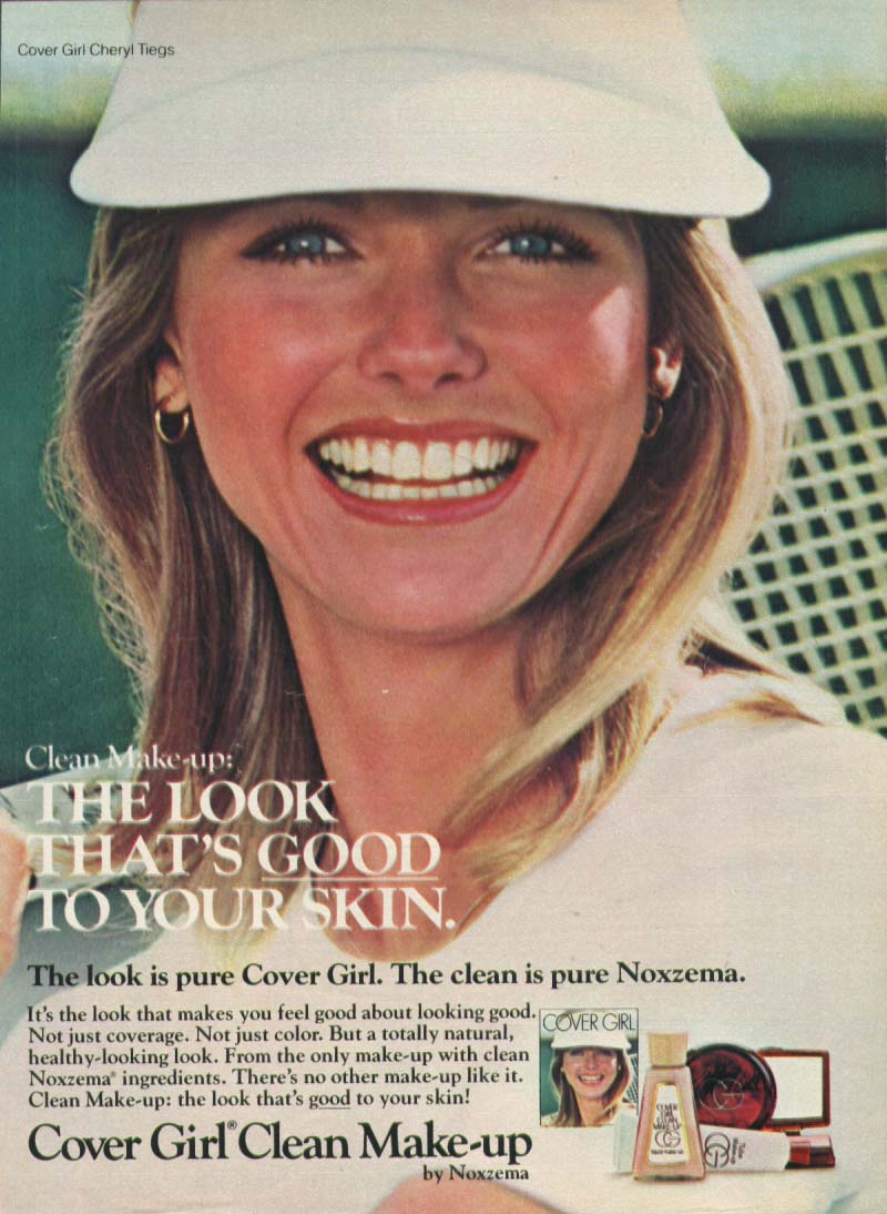 cheryl tiegs for cover clean make up ad 1977