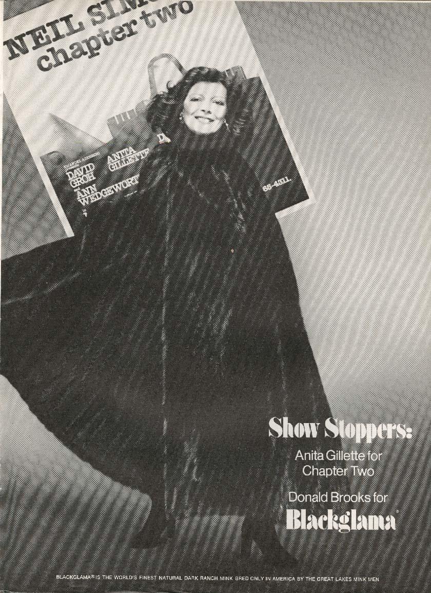 Anita Gillette for Blackglama mink ad 1978