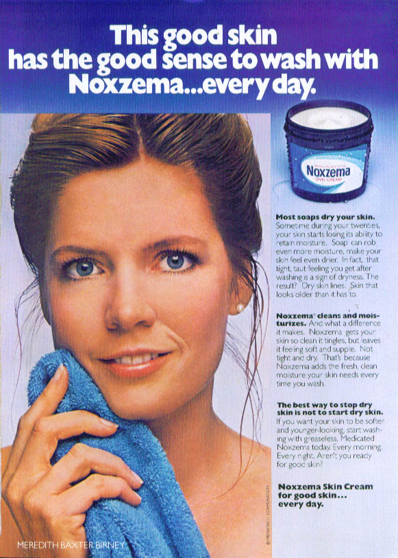 Image for Meredith Baxter Birney for Noxzema Skin Cream ad 1980