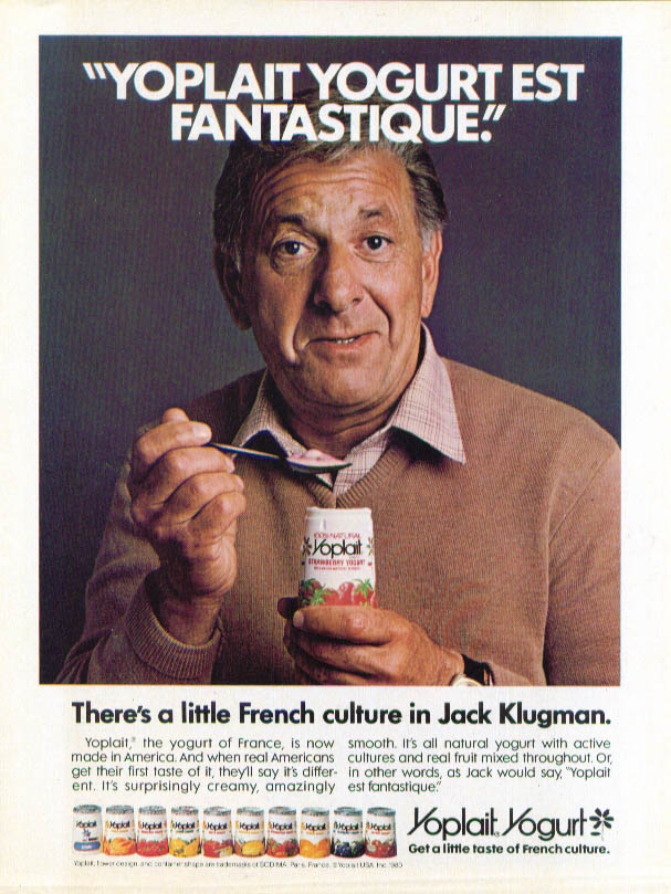 Image for Jack Klugman for Yoplait Yogurt ad 1981