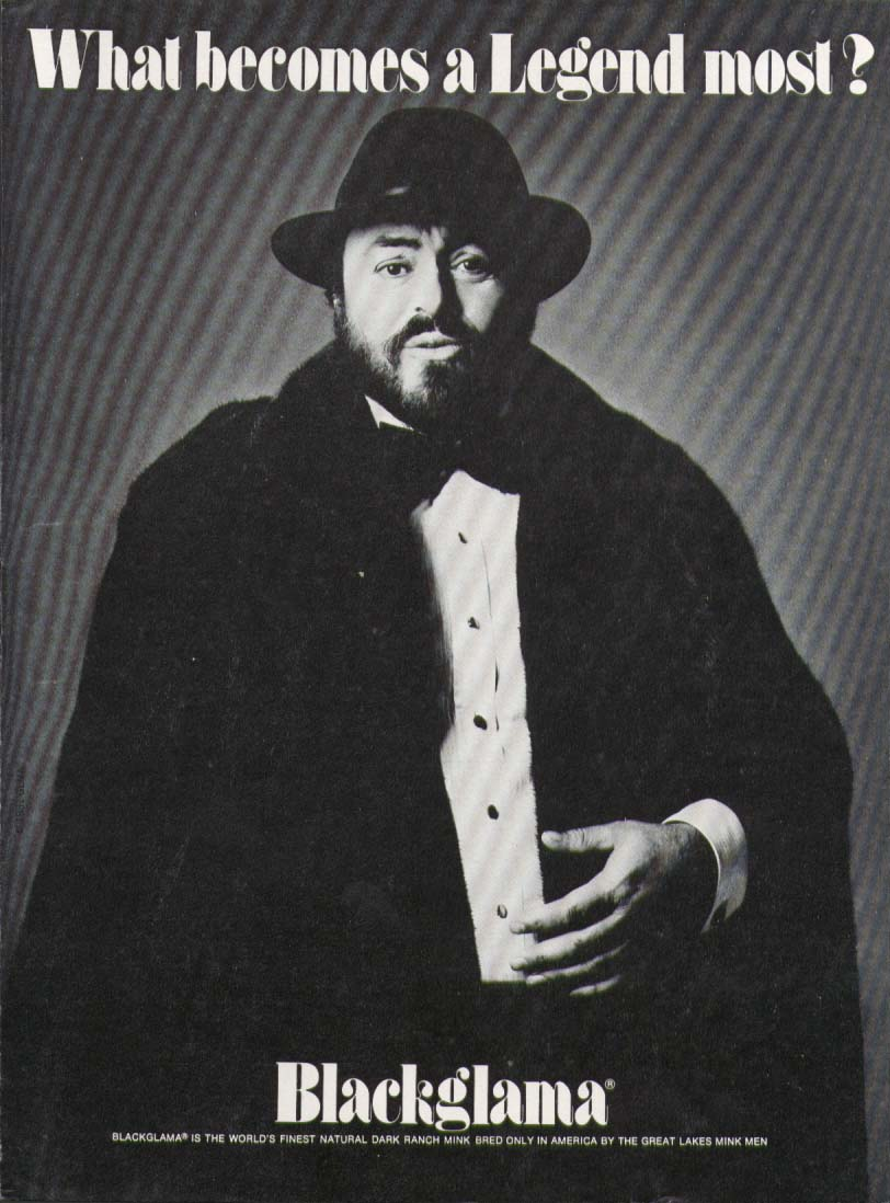 Image for Luciano Pavarotti for Blackglama Mink ad 1981