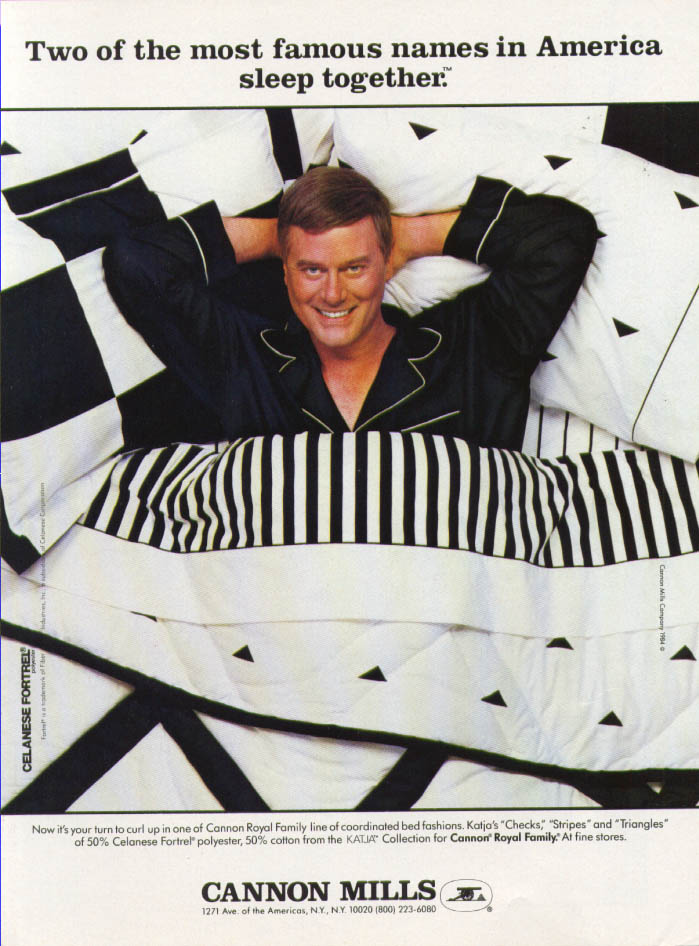 Image for Larry Hagman for Cannon Mills Sheets ad 1984