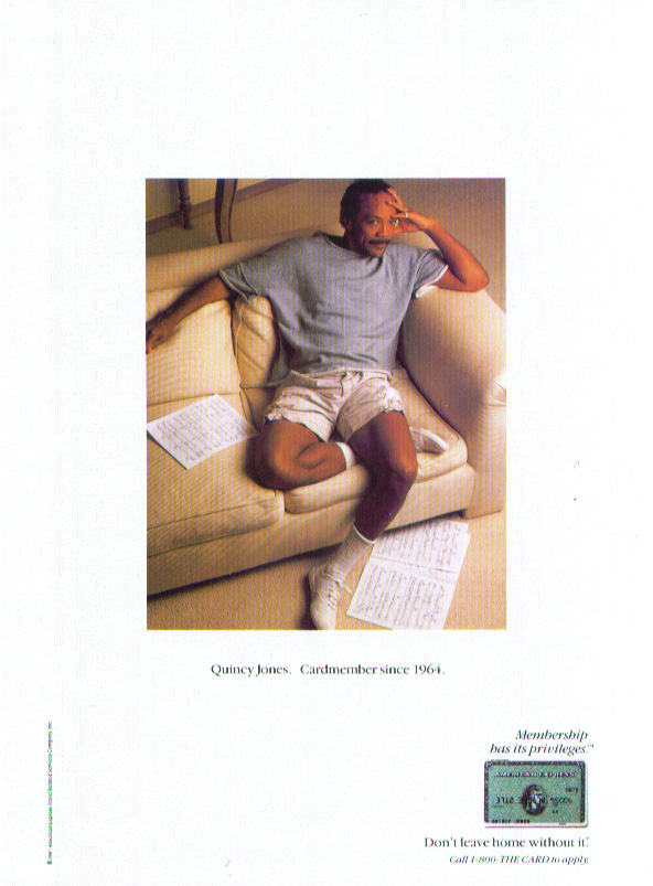 Image for Quincy Jones for American Express ad 1987