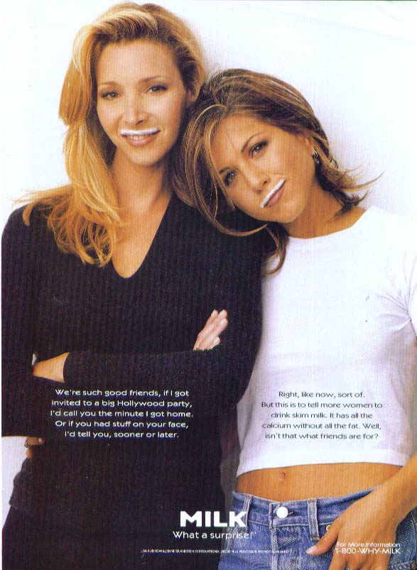 Image for Lisa Kudrow & Jennifer Anniston for Milk ad 1995