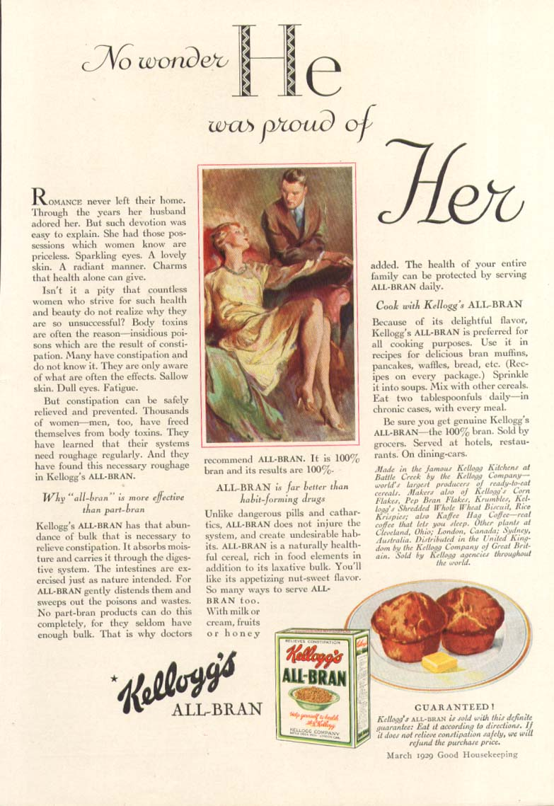 Image for He was proud of her Kellogg's All-Bran ad 1930