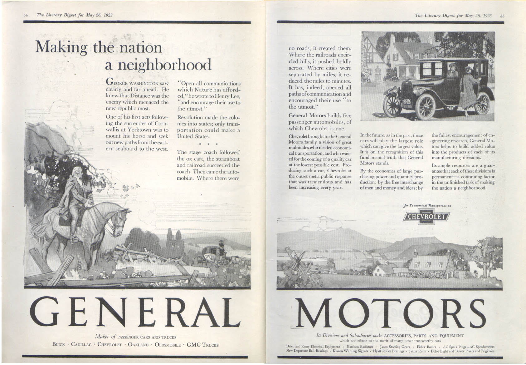 Image for General Motors Nation Neighborhood Chevrolet ad 1923