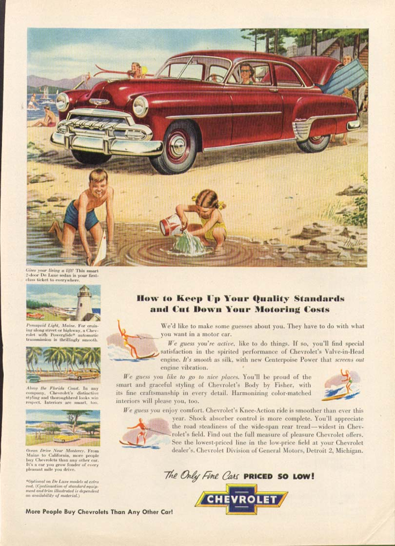 Chevrolet De Luxe 2-door sedan beach ad 1952 True