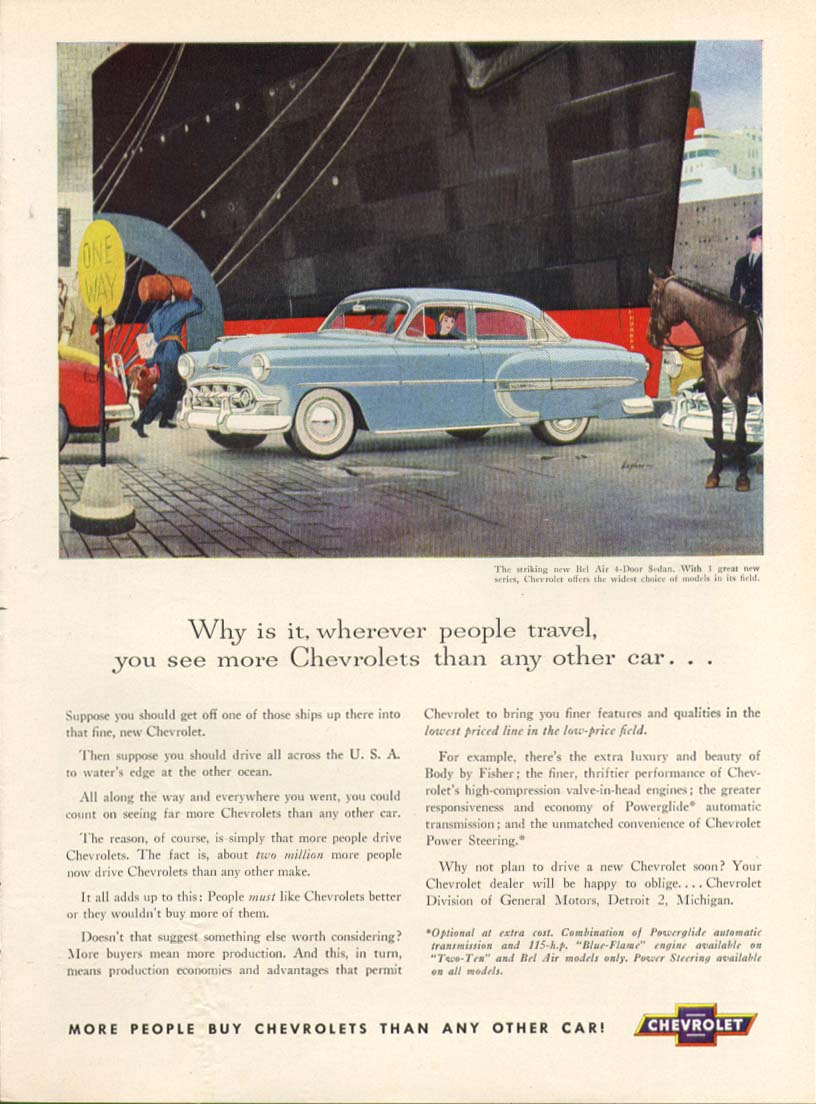 Chevrolet Bel Air see more than any other car ad 1953 Time