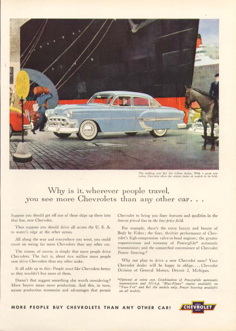 Chevrolet Bel Air see more than any other car ad 1953 True