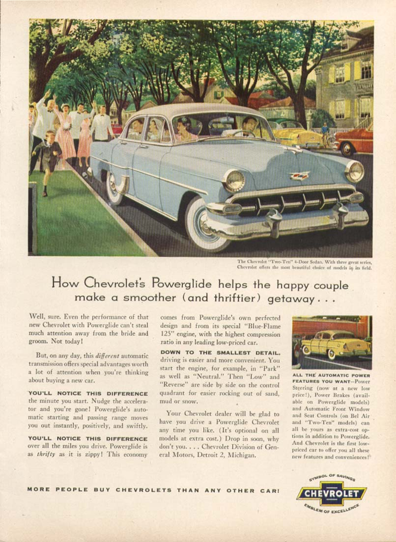 Chevrolet Bel Air Some sensible reasons why... Ad 1954