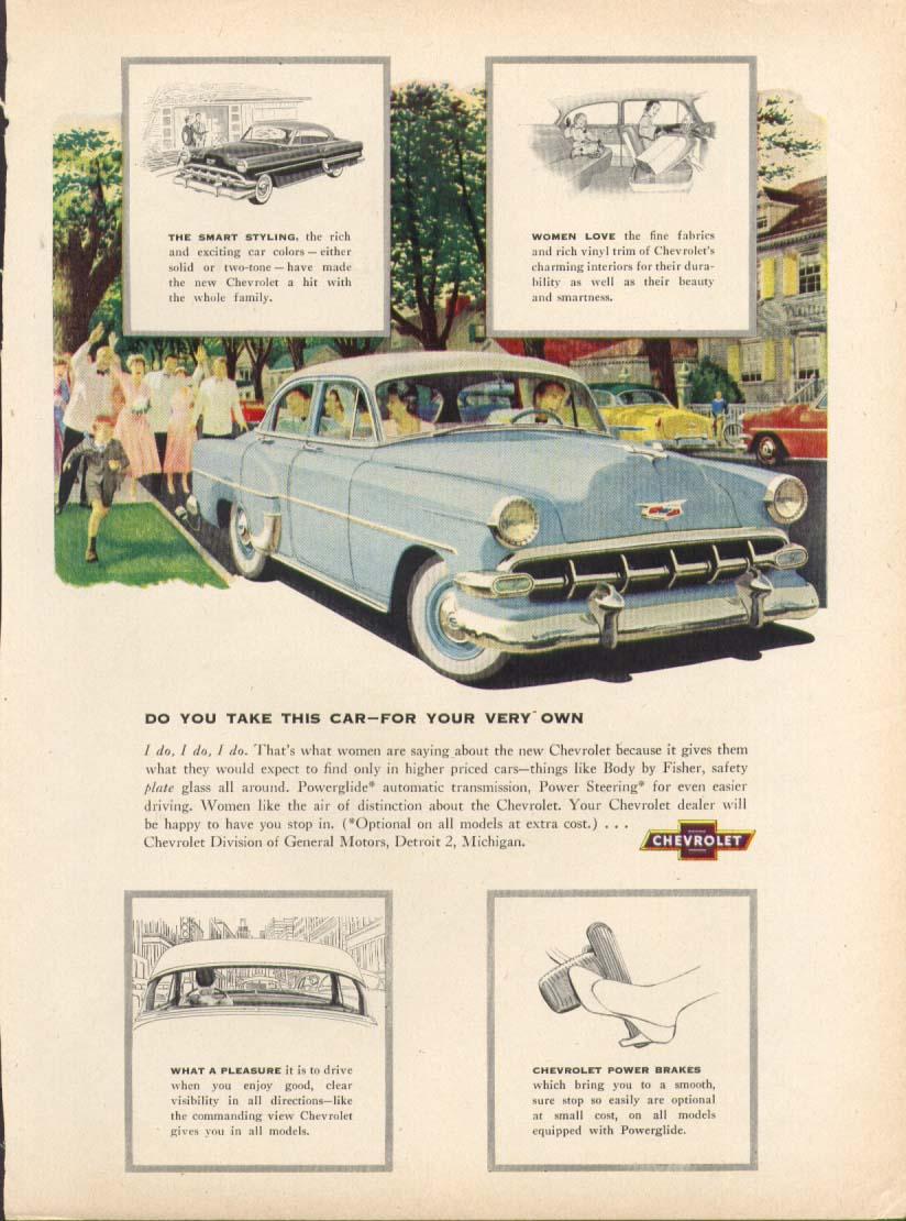 Chevrolet Do You Take This Car… I do! ad 1954