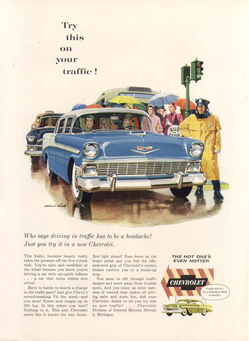 Chevrolet Bel Air Try this on your traffic! Ad 1956 New Yorker