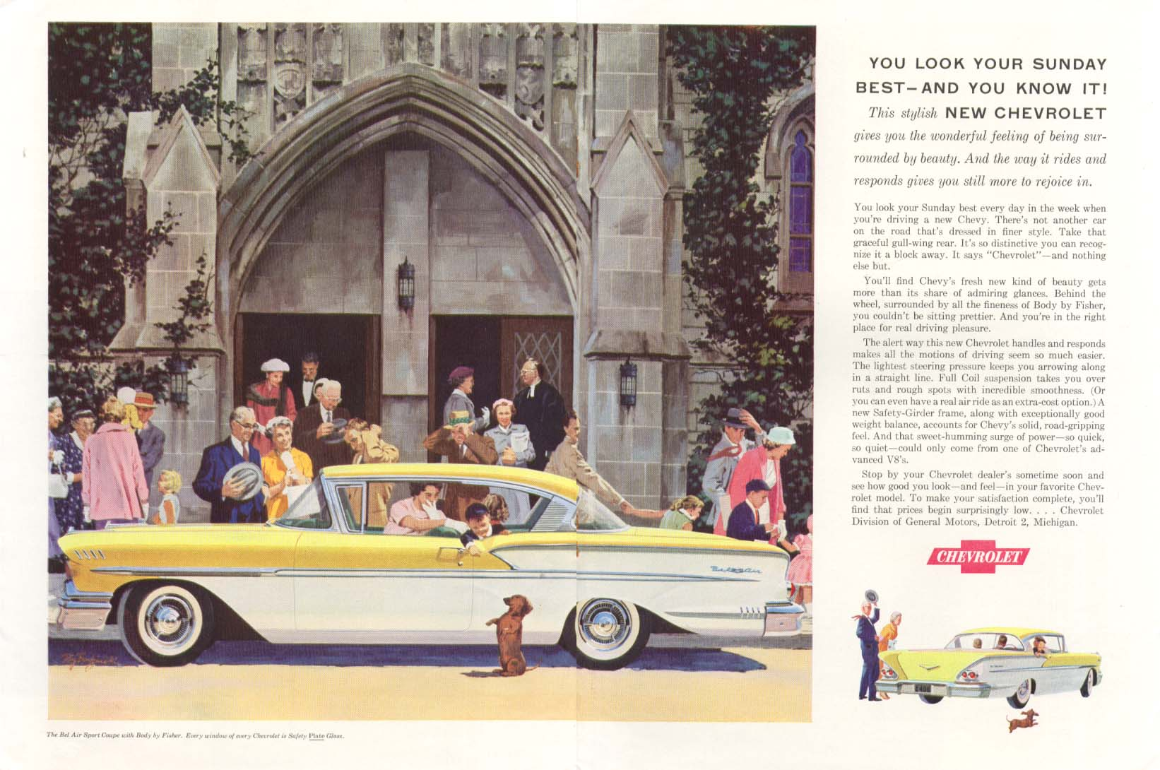 Chevrolet Bel Air Look Your Sunday Best ad 1958
