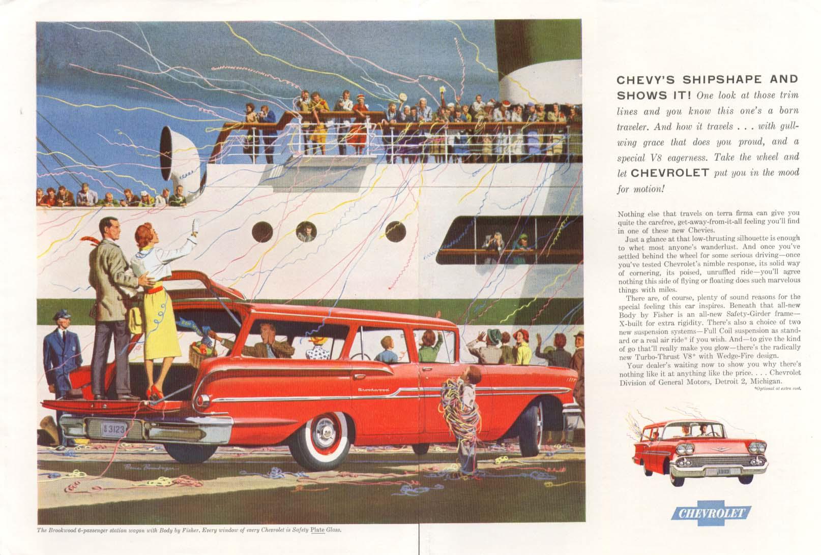 Chevrolet Brookwood station wagon Shipshape ad 1958