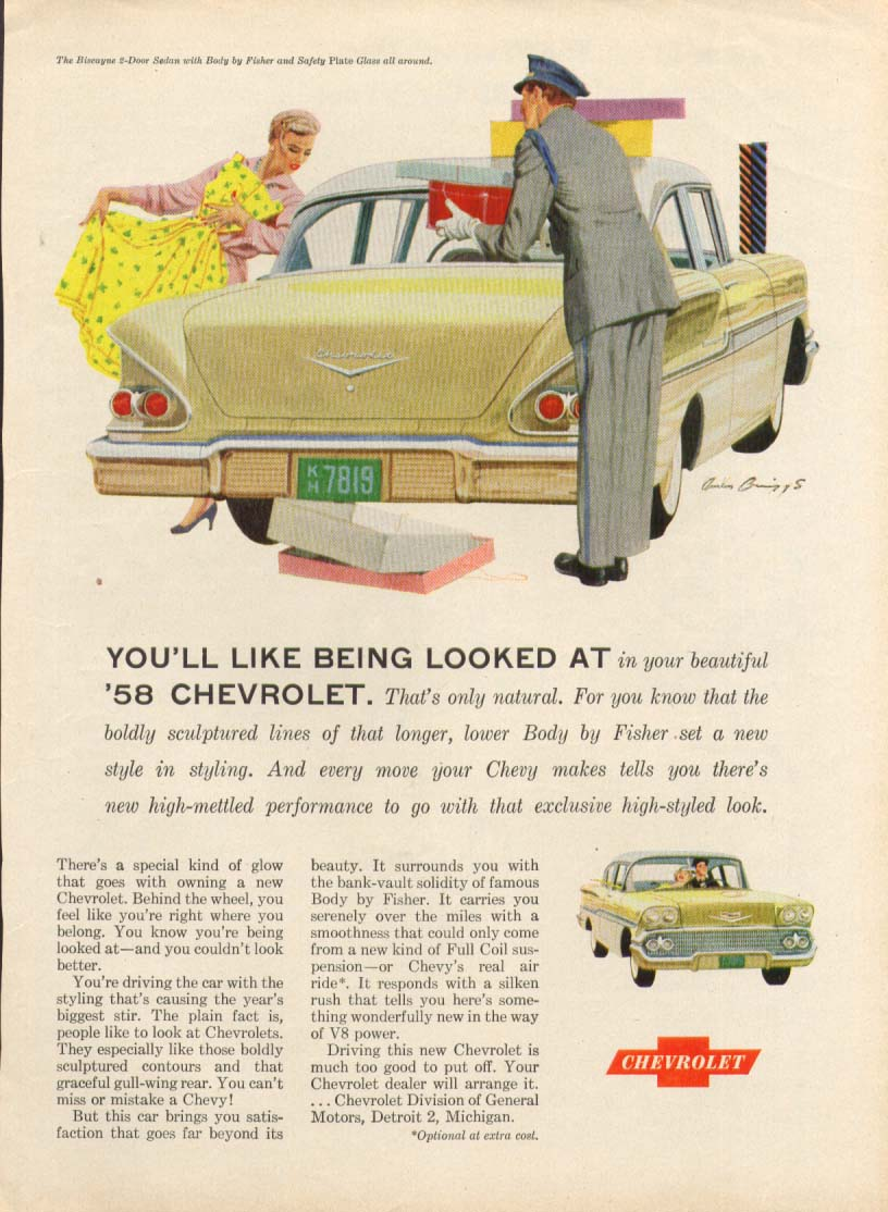 Chevrolet Biscayne You'll Like Being Looked At ad 1958 #2
