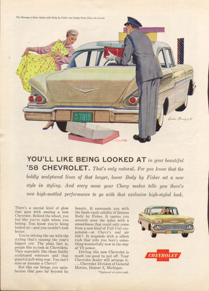Chevrolet Biscayne You'll Like Being Looked At ad 1958 #1