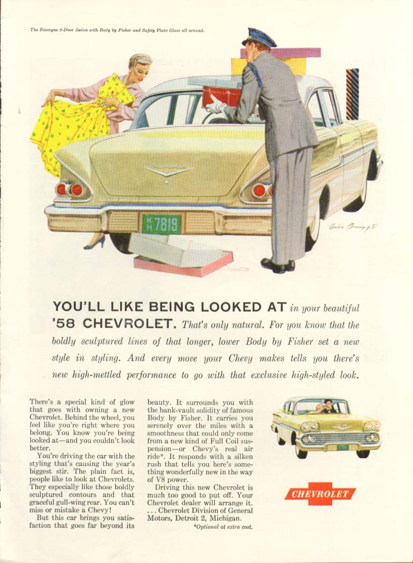 Chevrolet Biscayne You'll Like Being Looked At ad 1958 #4