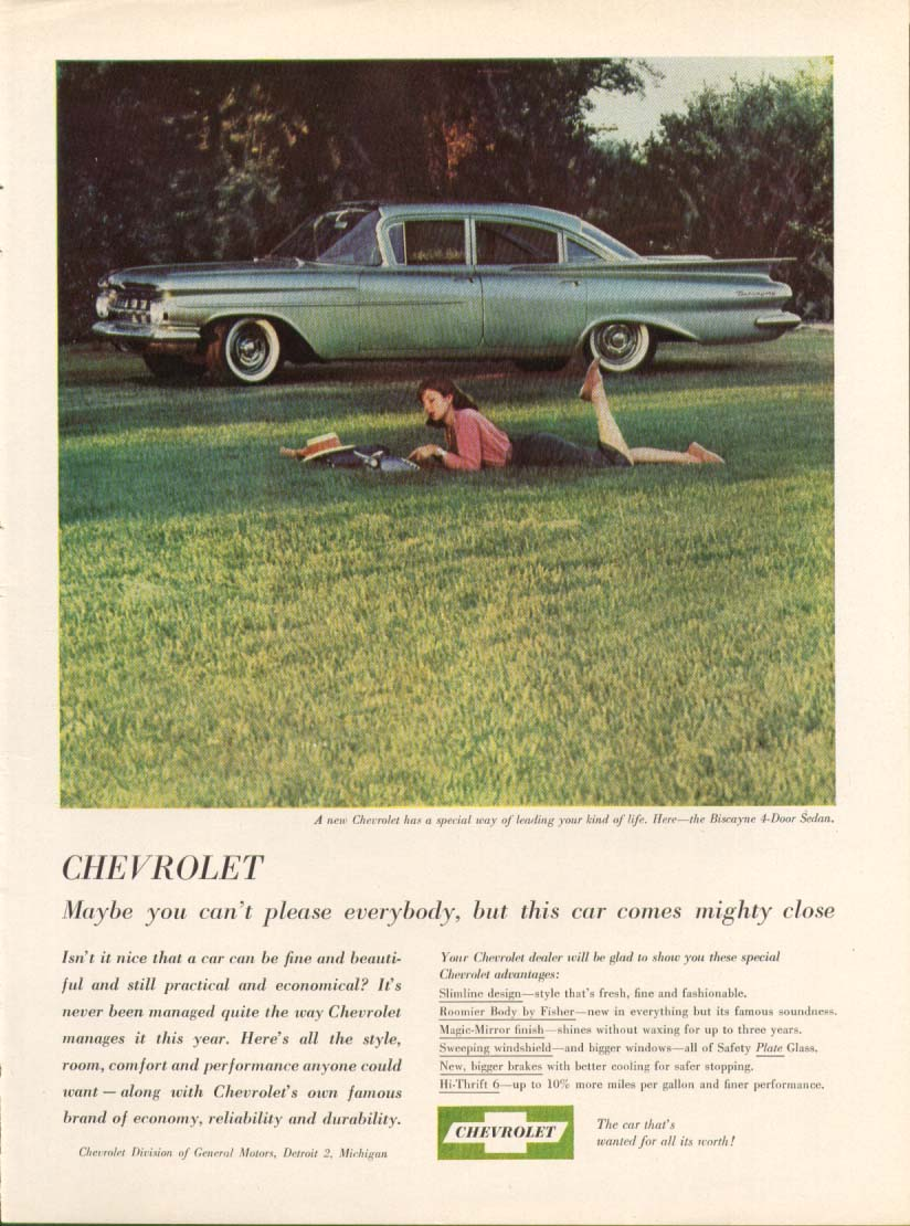 Chevrolet Biscayne lead your kind of life ad 1959