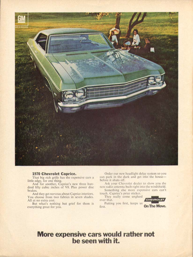 Chevrolet Caprice other cars would rather not… ad 1970