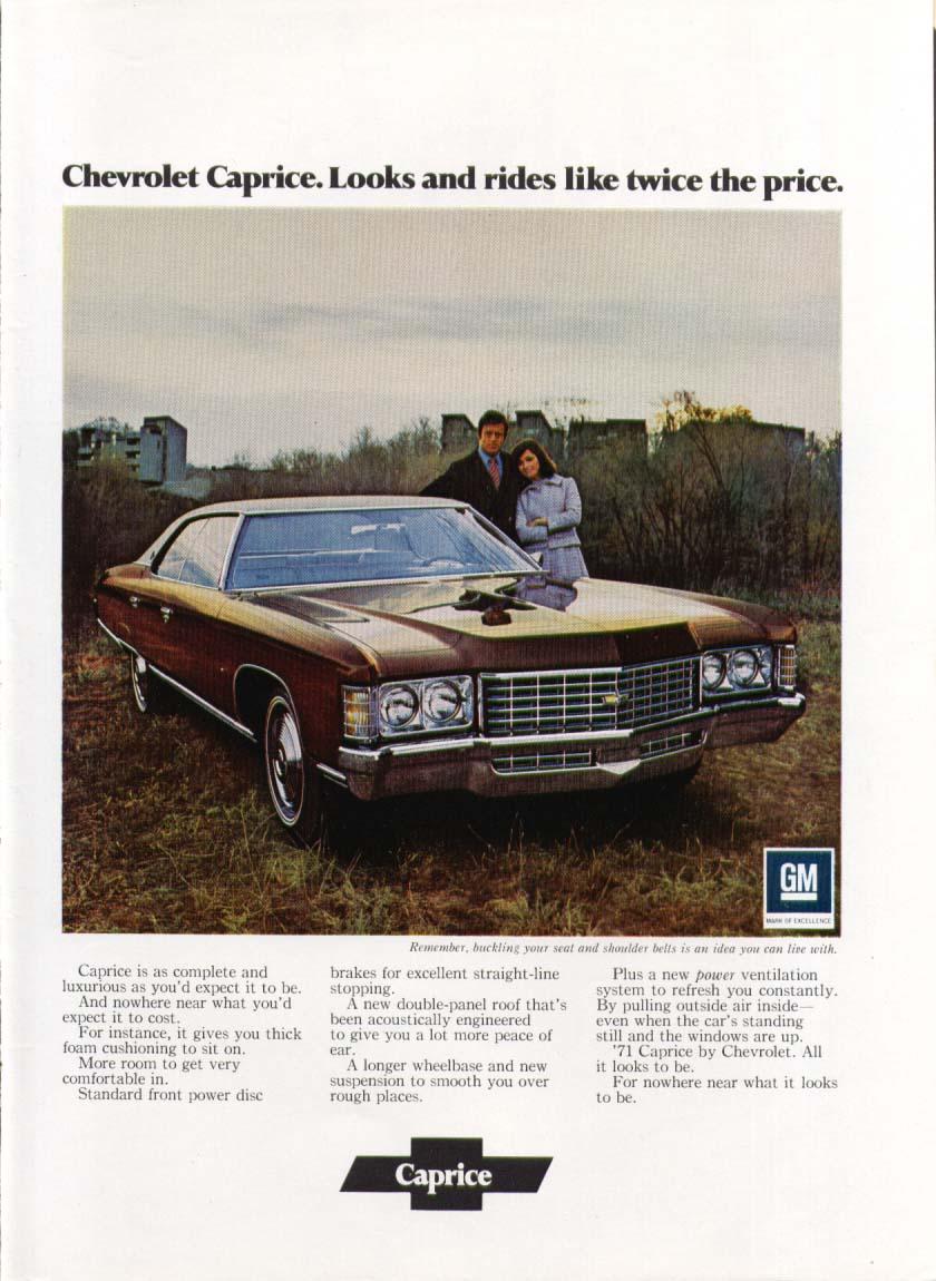 Chevrolet Caprice Looks like twice the price ad 1971