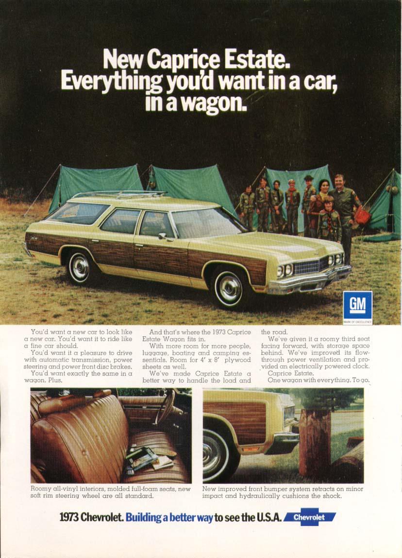 Chevrolet Caprice Estate station wagon ad 1973