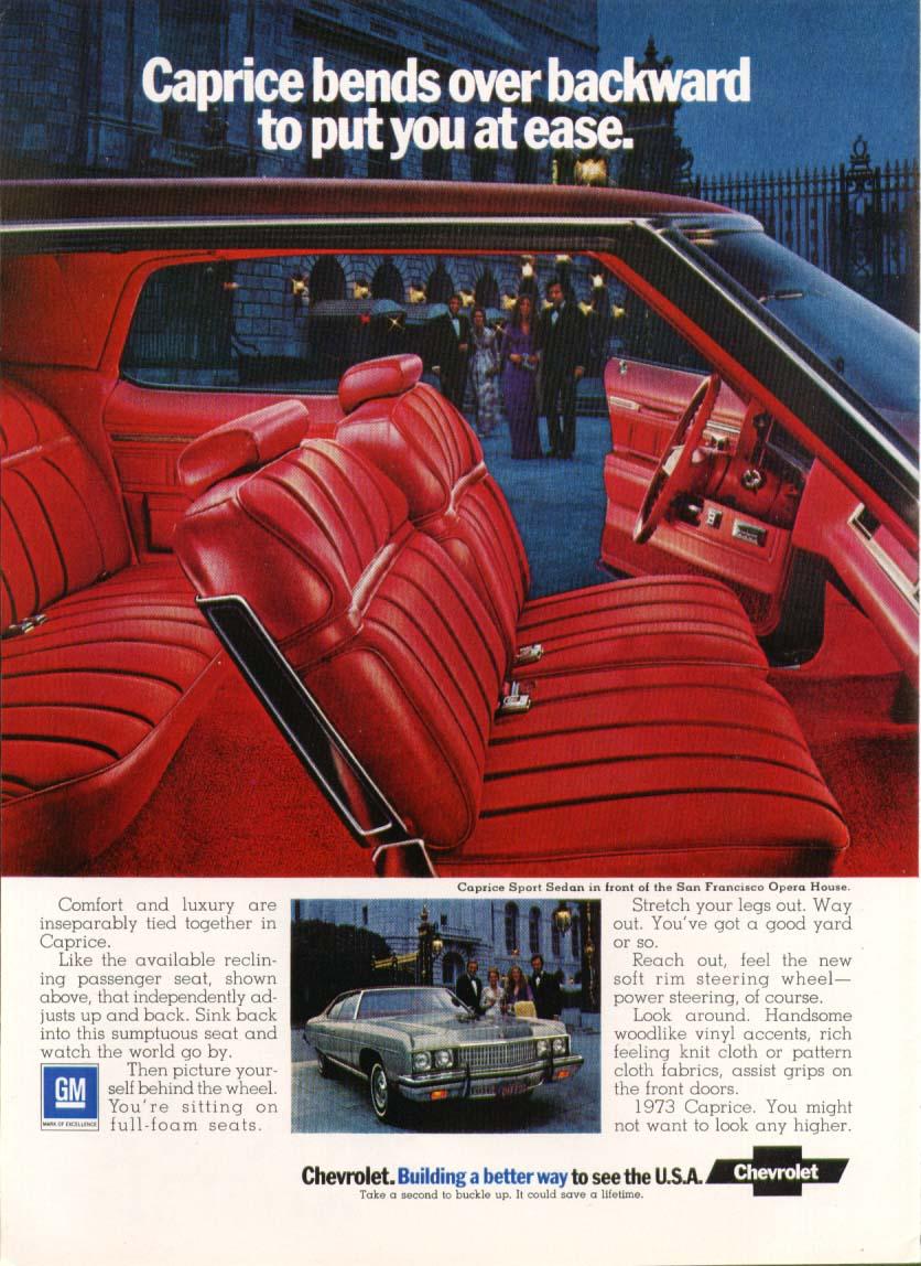 Chevrolet Caprice bends over backward ad 1973