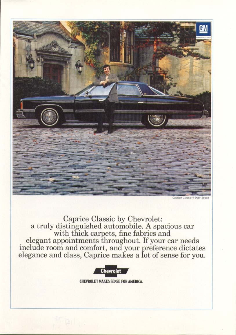 Chevrolet Caprice Classic truly distinguished ad 1974