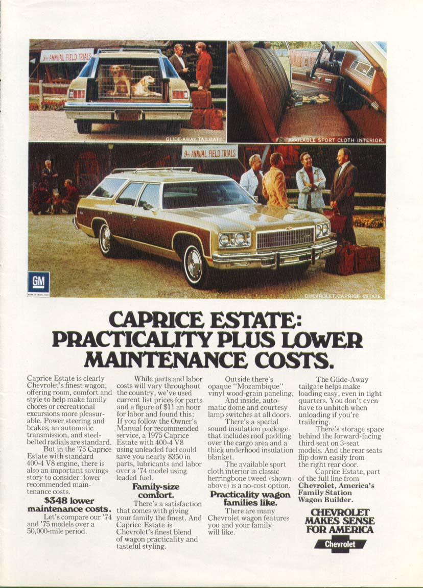 Chevrolet Caprice Estate Wagon: Practicality ad 1975