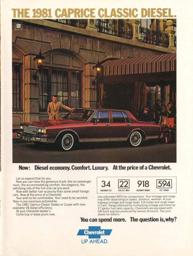 Chevrolet Caprice Classic Diesel luxury ad 1981