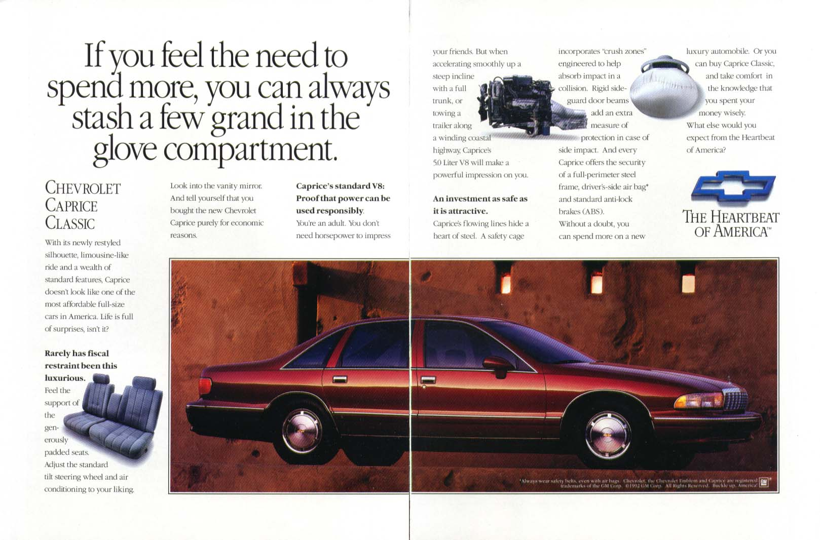 Chevrolet Caprice Classic feel the need ad 1993