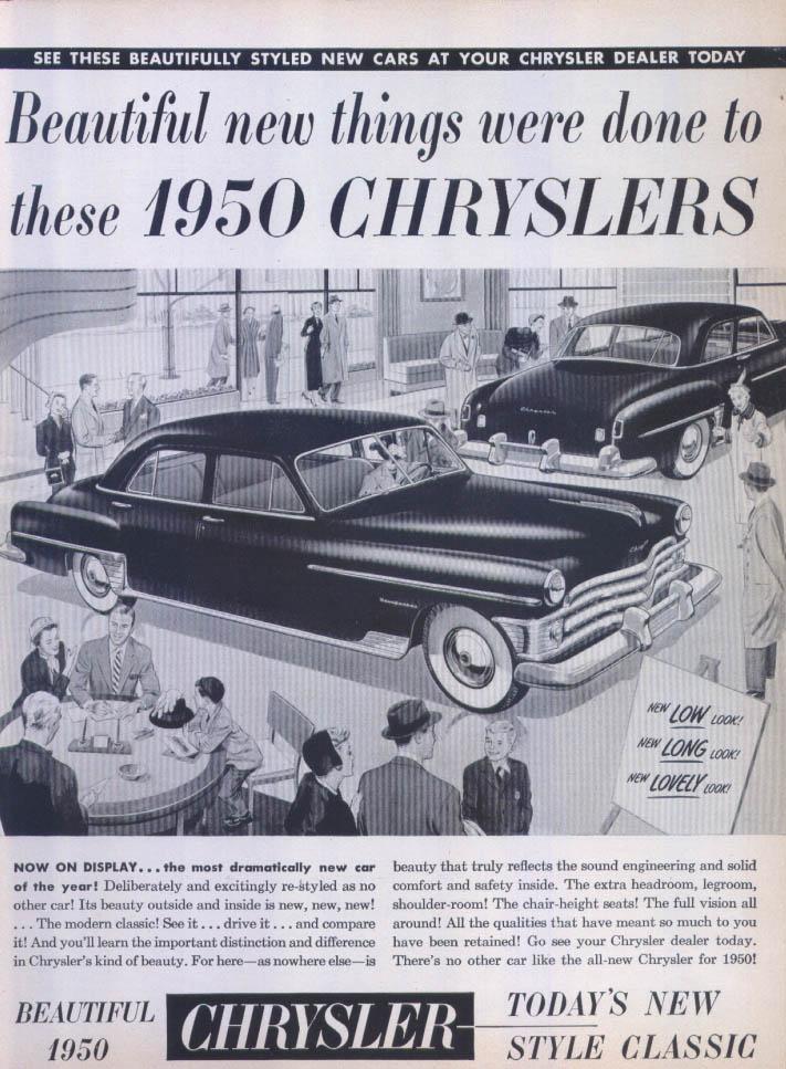 Image for Chrysler New Yorker low long lovely ad 1950