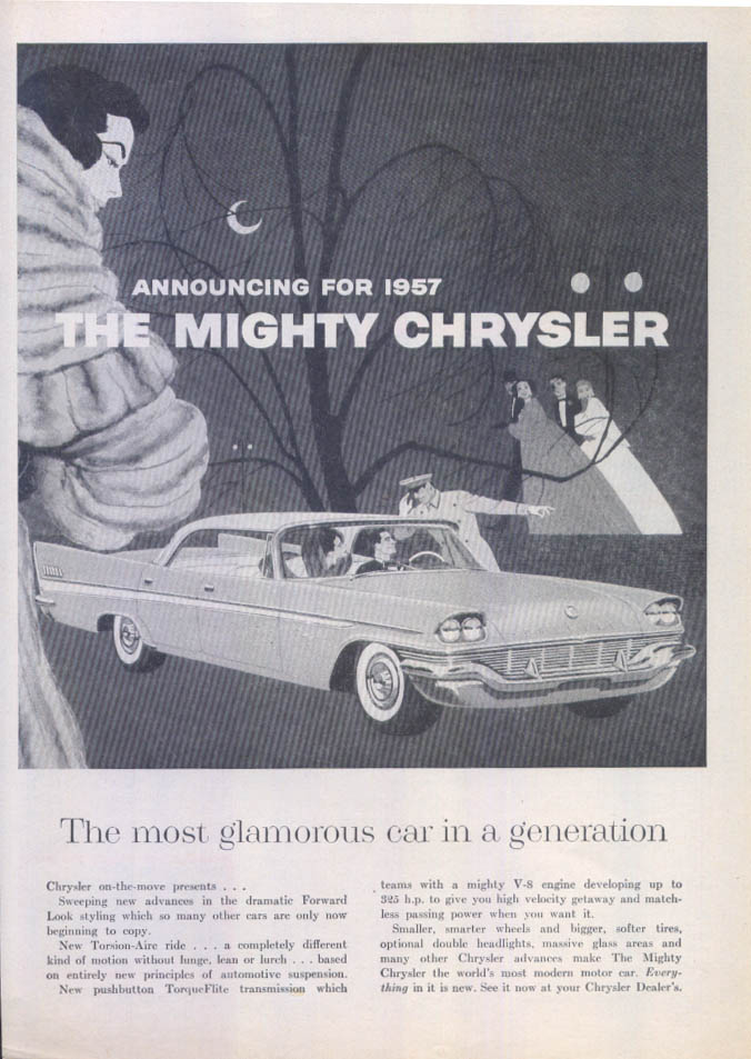 Image for Chrysler New Yorker Announcing the Mighty ad 1957
