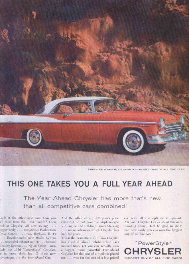 Image for Chrysler Windsor Newport a full year ahead ad 1956