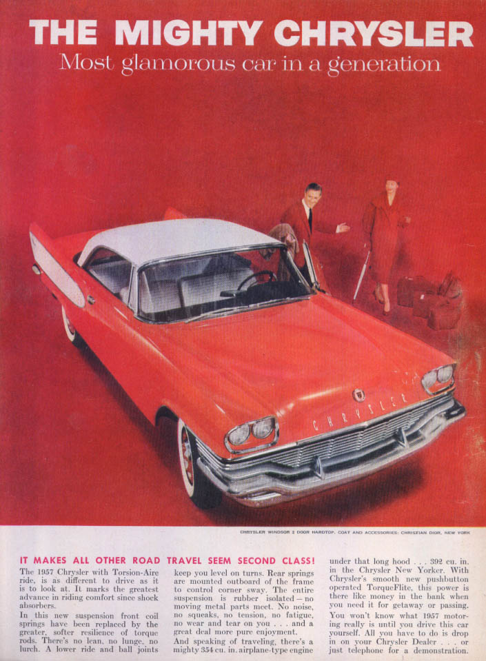 Image for Chrysler Windsor all other travel second class ad 1957