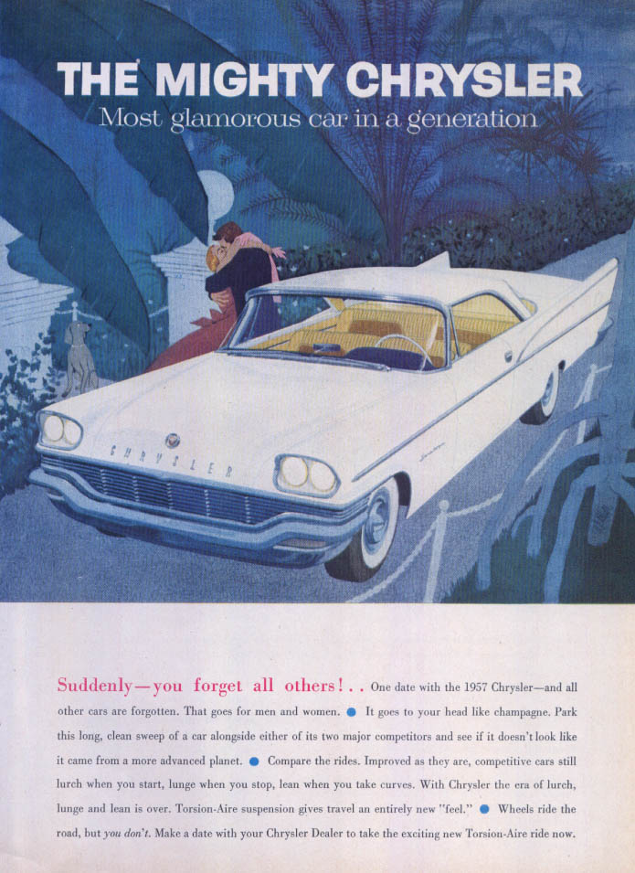 Image for Chrysler Saratoga suddenly forget all others! ad 1957