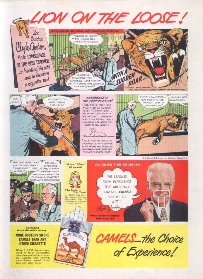 Clyde Gordon Camel Cigarettes Circus ad 1948