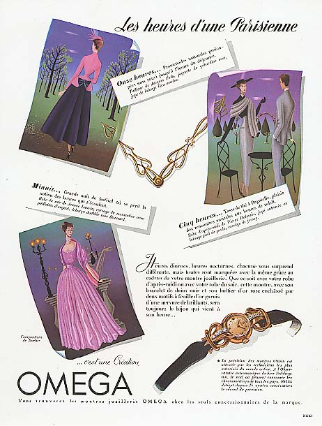 Image for Les heures d'une Parisienne Omega Watch ad 1948