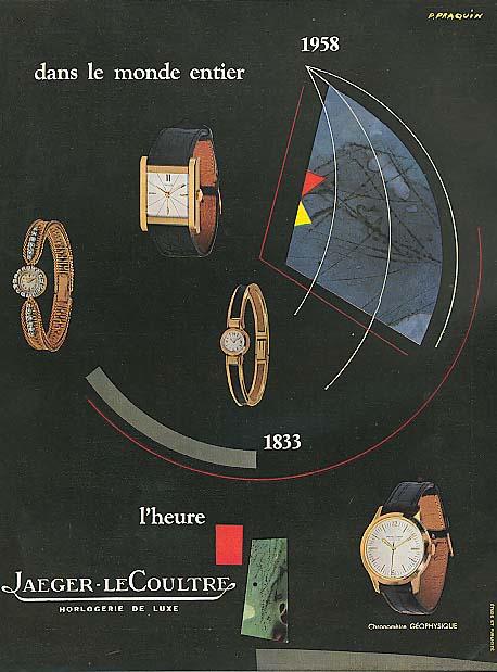 Dans Monde Entier 1833-1958 Jaeger-LeCoultre watch ad