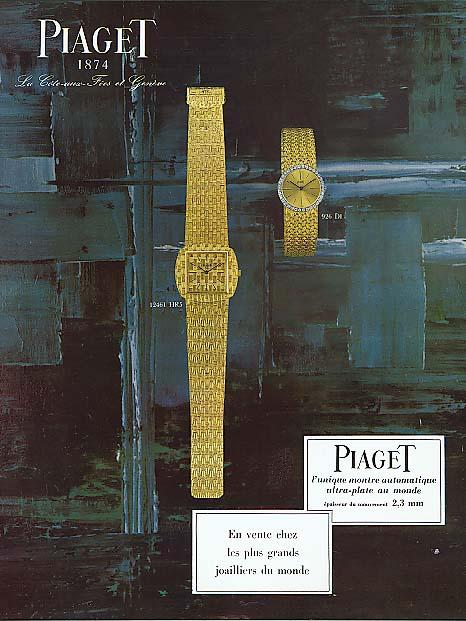 Chez les plus grands joailliers Piaget Watch ad 1963