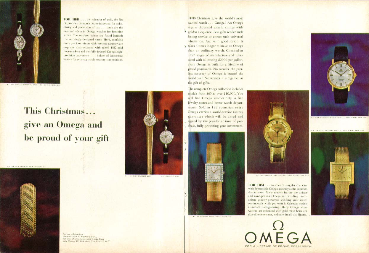 This Christmas give an Omega Watch ad 1963