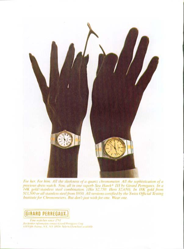 Wishbone Girard Perregaux Sea Hawk II Watch ad 1980