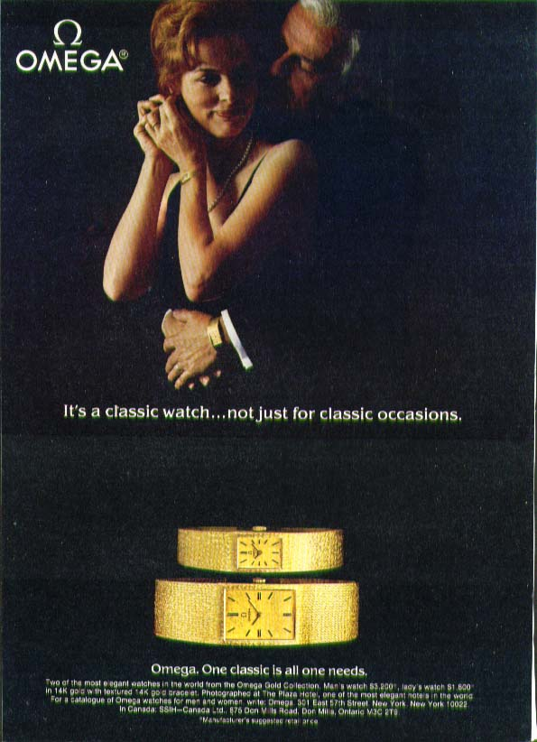 Classic not just classic occasion Omega Watch ad 1980