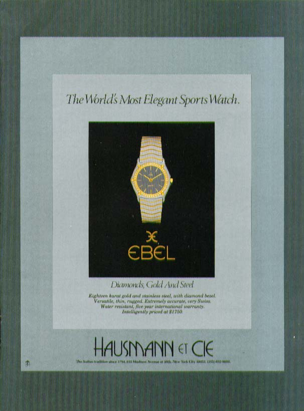 Image for World's Most Elegant Sports Watch Ebel ad 1981