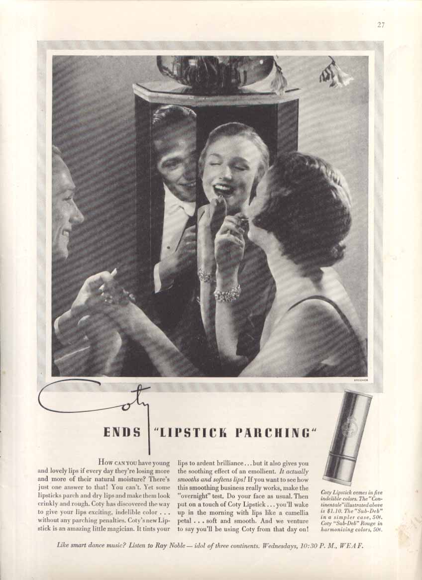 Image for Coty ends lipstick parching ad 1935 Edward Steichen
