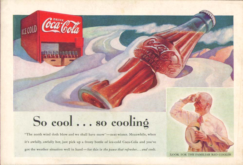 Image for So cool . . . So cooling Coca-Cola ad 1937