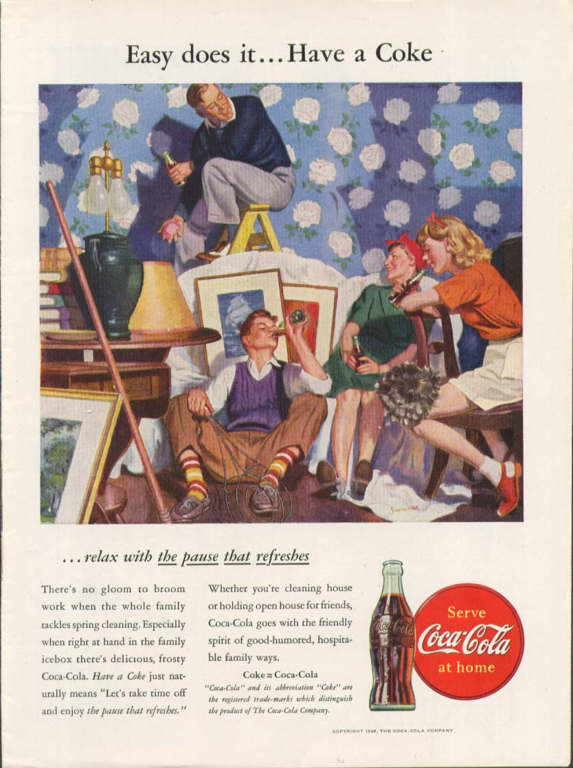 Image for Easy does it have a Coca-Cola ad 1946 spring cleaning