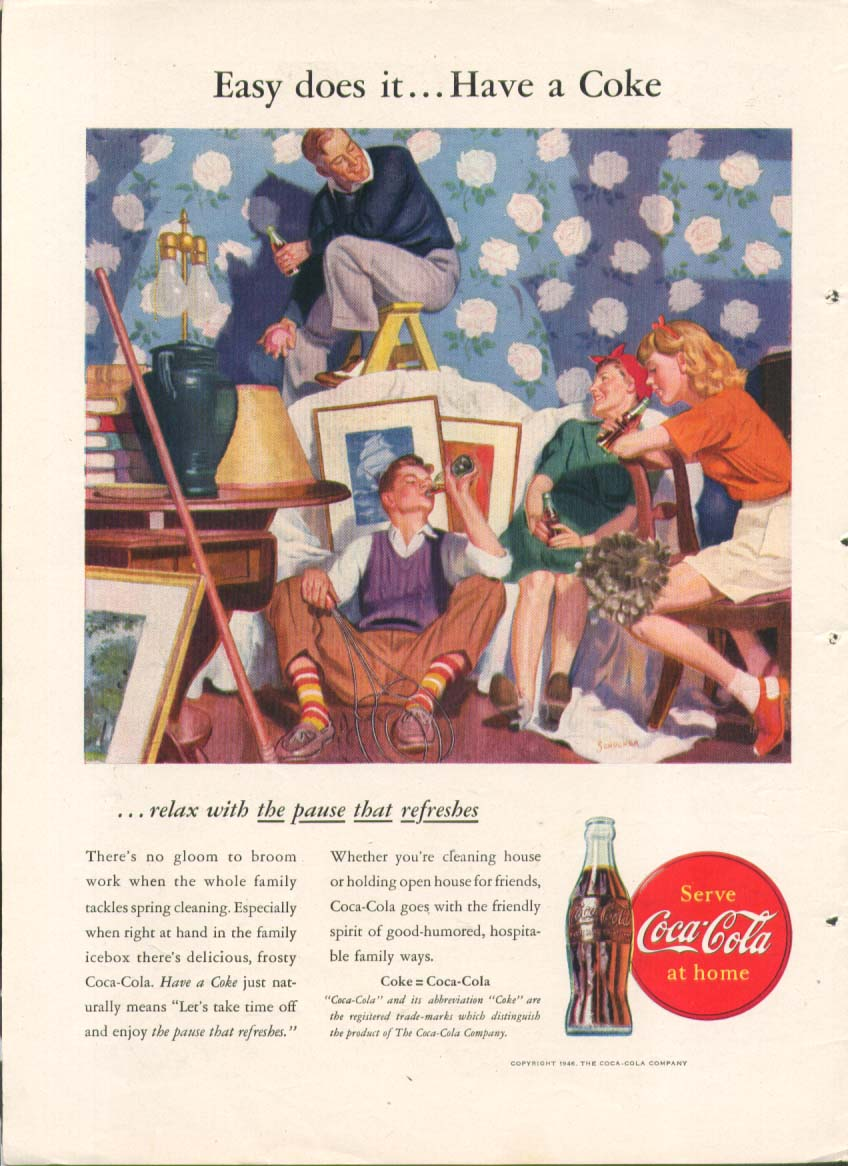 Easy does it Have a Coke Coca-Cola ad 1946
