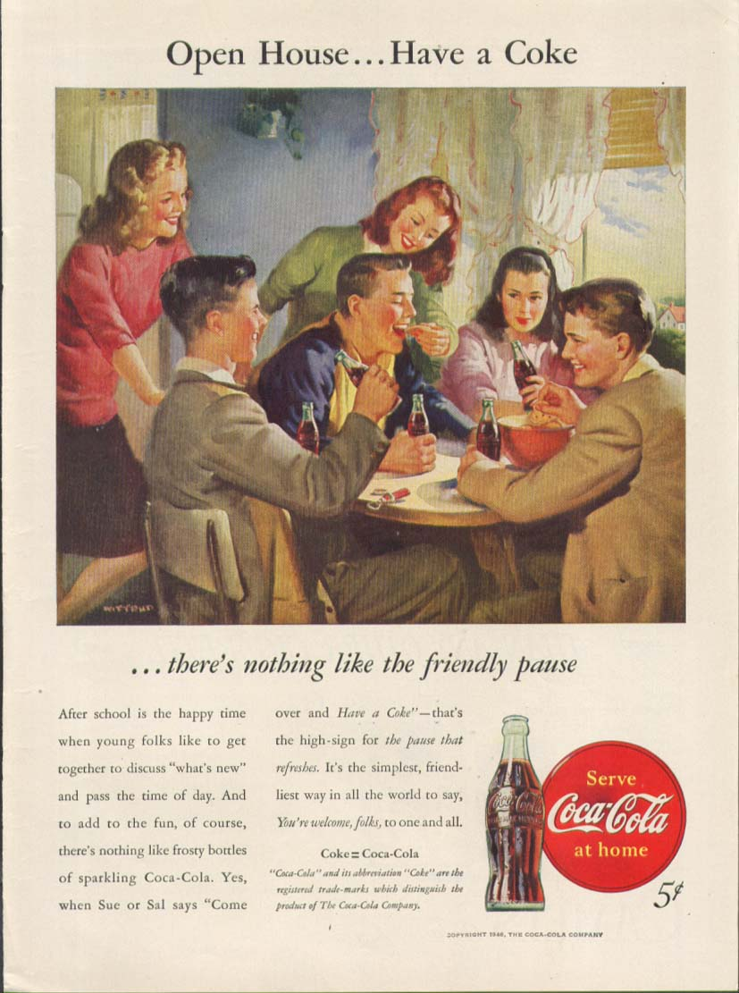 Image for Open house Have a Coke Coca-Cola ad 1946