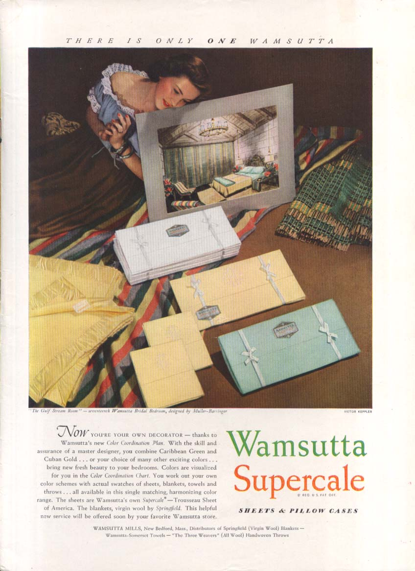 Your own decorator Wamsutta Spuercale ad 1948 Keppler